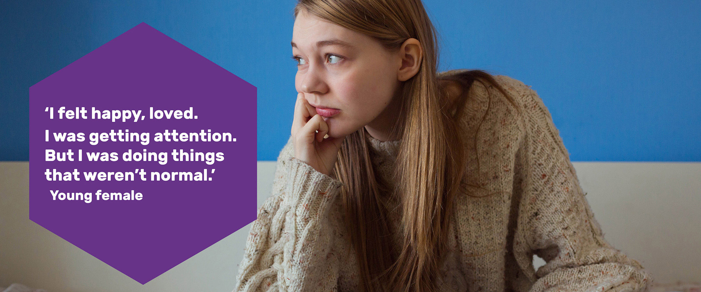 Close up of a girl looking to the side with text on the image about CSE